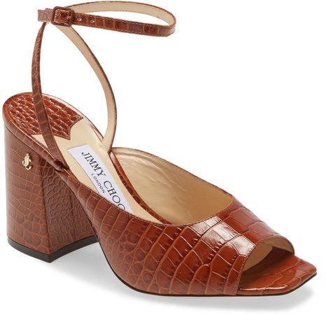 Jassidy Croc Embossed Sandal