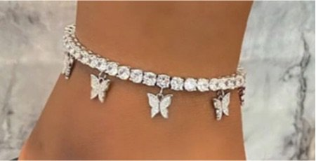 butterfly anklet