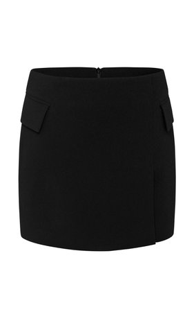 Izzy Satin Crepe Mini Skirt by Alex Perry   Moda Operandi