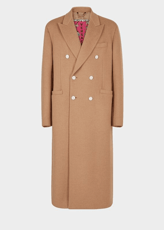 Versace Double-Breasted Trench Coat