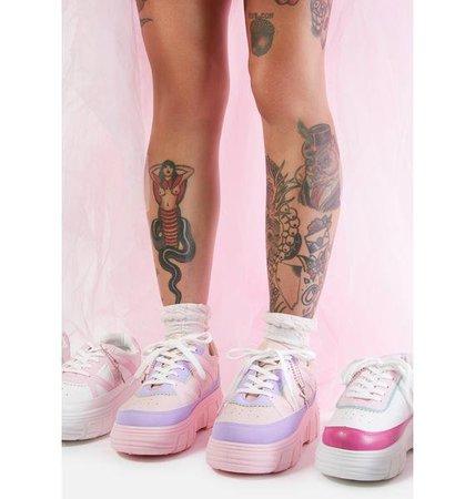 Koi Footwear Pink Aiya Platform Sneakers | Dolls Kill