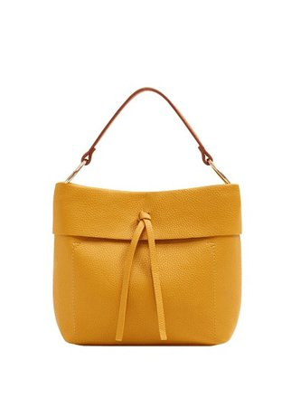 Violeta BY MANGO Pebbled mini shopper bag