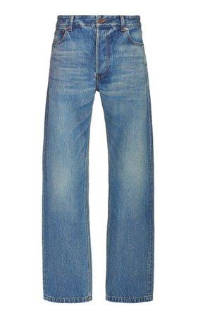 Normal Rigid High-Rise Straight-Leg Jeans By Balenciaga | Moda Operandi