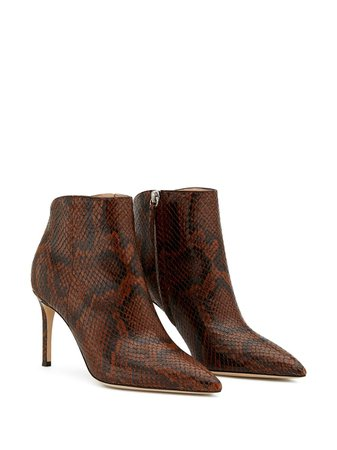 Giuseppe Zanotti Tysha snake-effect Ankle Boots - Farfetch