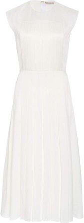 Emilia Wickstead Brittany Pleated Silk-Blend Dress