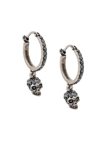 Alexander McQueen Mini Hoop Skull Earring - Farfetch