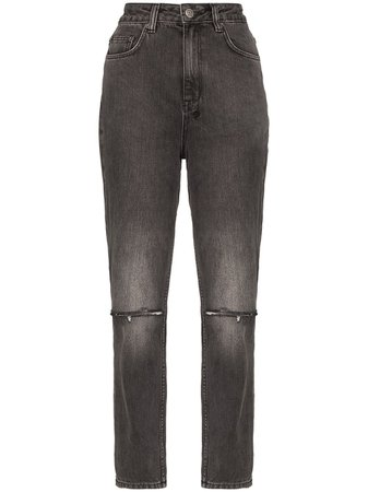 Ksubi Chlo Wasted High-Waisted Straight Leg Jeans For Women | Farfetch.com