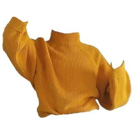 Yellow Turtle Neck Sweater