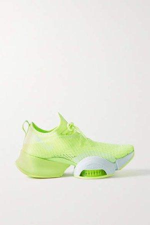 Air Zoom Superrep Neoprene And Mesh Sneakers - Chartreuse