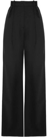 MATERIEL Pleated High-Rise Wide-Leg Trousers