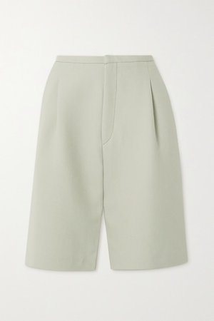 Lluc Pleated Twill Shorts - Beige