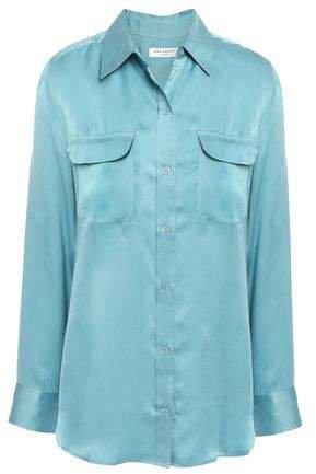 Silk-blend Satin Shirt