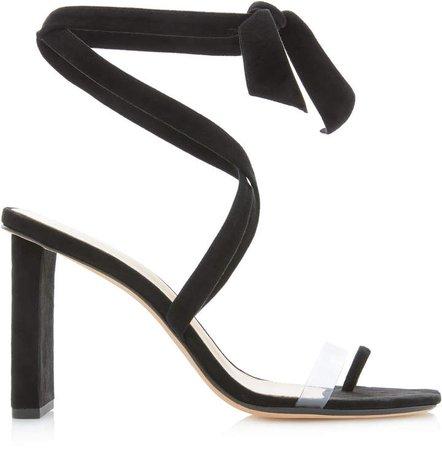 Katie Suede PVC-Strap Sandals