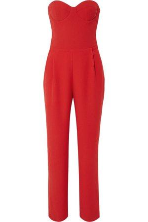 RASARIO | Strapless crepe jumpsuit | NET-A-PORTER.COM