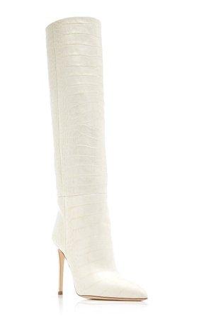 Croc-Embossed Leather Knee Boots By Paris Texas | Moda Operandi