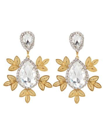 Garance Crystal Drop Earrings