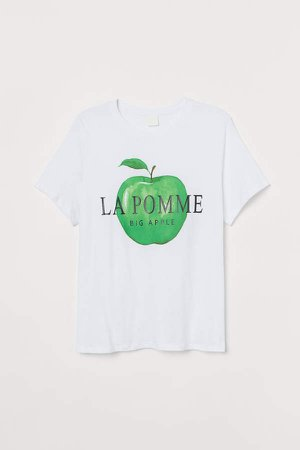 H&M+ Cotton Jersey T-shirt - White
