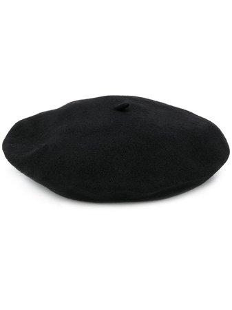 Celine Robert knitted beret hat black
