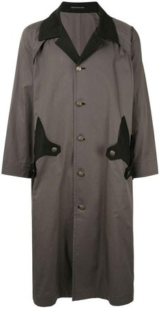 Two-Tone Duster Coat