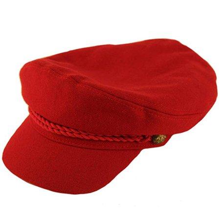 100% Soft Wool Greek Fisherman Cap