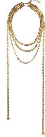Draped Mixed-Chain Necklace