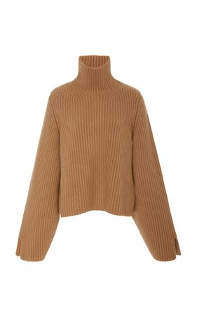 Molly Ribbed Cashmere Turtleneck Sweater by Khaite | Moda Operandi