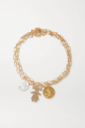 Gold Gold-tone pearl necklace | Timeless Pearly | NET-A-PORTER