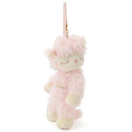 pink lamb keychain