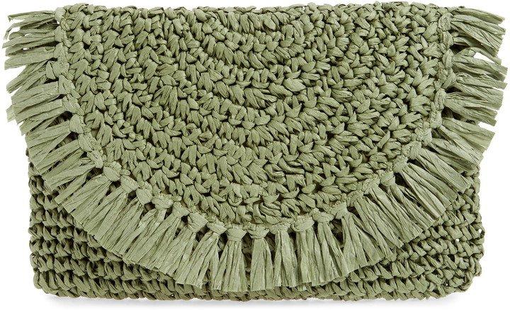 Clara Soft Straw Clutch