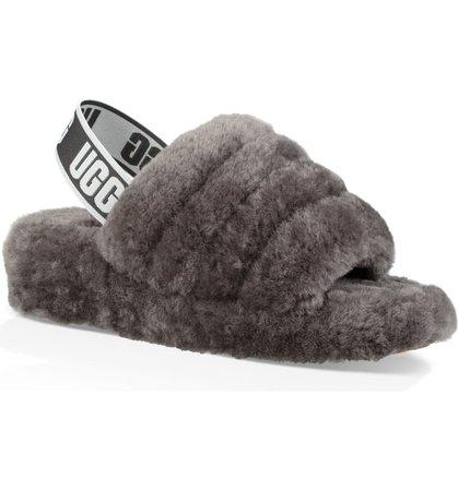 UGG® Fluff Yeah Genuine Shearling Slide (Women) | Nordstrom