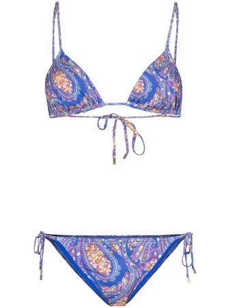 Etro Paisley Print Bikini - Farfetch