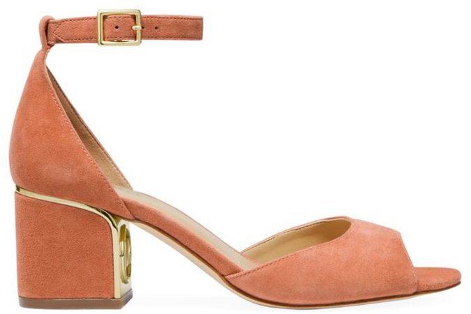 Lana Suede Ankle-Strap Block Heels