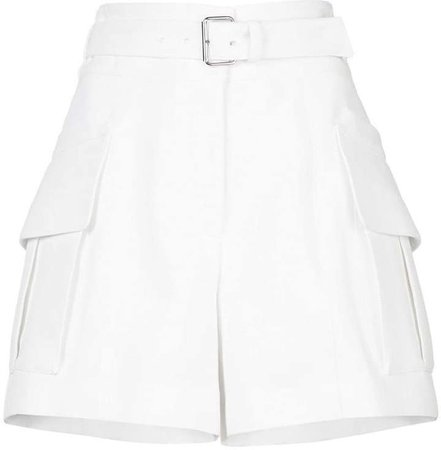 Belted Short With Patch Pockets