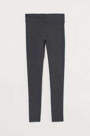 Cotton Leggings - Gray