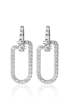18k White Gold Reine Earrings By Eera   Moda Operandi