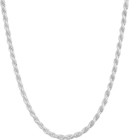 Amazon.com: Sterling Silver Diamond Cut Rope Chain Necklace, 1MM 2MM 3MM 4MM Braided Twist Rope Chain Neclace, 925 Sterling Silver Necklace: Jewelry