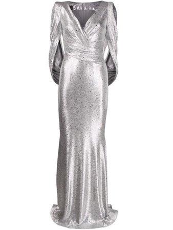 Talbot Runhof Rosin gown silver ROSIN12FK65 - Farfetch