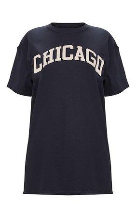 Black Chicago Slogan Oversized T Shirt | Tops | PrettyLittleThing USA