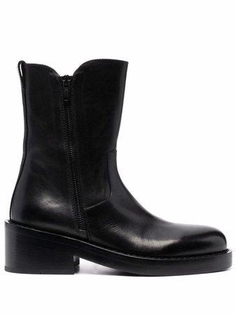 Ann Demeulemeester almond-toe mid-calf boots - FARFETCH