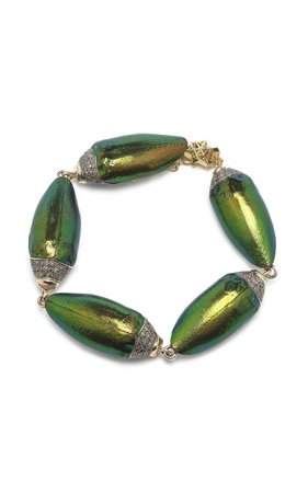 Big Scarab Bracelet Real Wings by Bibi van der Velden | Moda Operandi