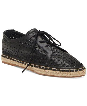 Vince Camuto Galstita Lace-Up Flats & Reviews - Flats - Shoes - Macy's blacks