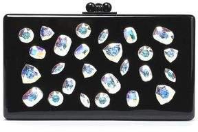 Jean Jewelie Crystal-embellished Acrylic Box Clutch