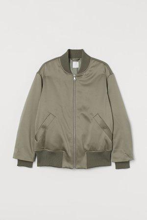 Bomber Jacket - Khaki green - Ladies | H&M US