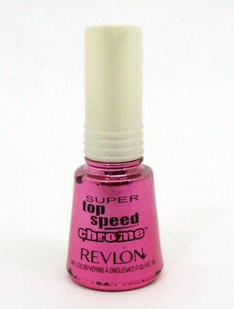 Revlon Nail Polish Lacquer Super Top Speed 008 Punch Chrome .5 oz Fuchsia Pink | eBay