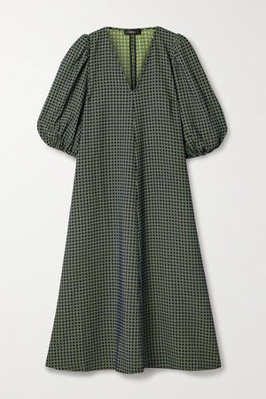Net Sustain Mavelin Jacquard Midi Dress - Navy