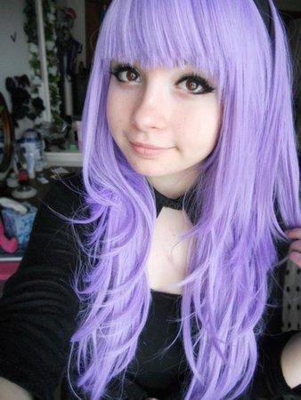 pastel purple hair goth - Google Search