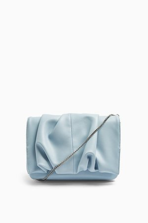 RUBY Blue Ruched Clutch Bag | Topshop