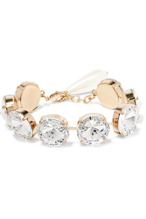 Rosantica | Gold-tone, crystal and faux pearl bracelet | NET-A-PORTER.COM