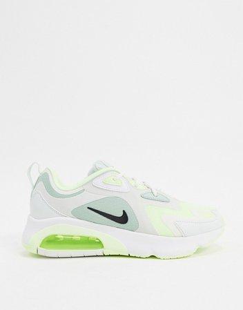 Nike Air Max 200 green sneakers   ASOS