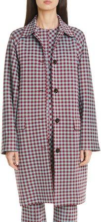 Gingham Cocoon Coat